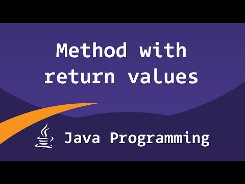 Java Methods with Return Values | Java Video Tutorials for Beginners