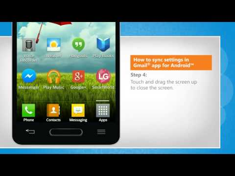 How to sync settings in Gmail® app for Android™ on LG L9
