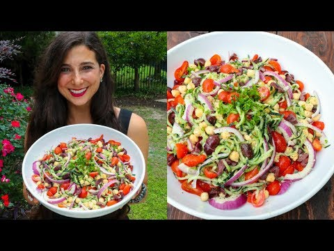 BEST Greek Salad Recipe | FullyRaw Vegan