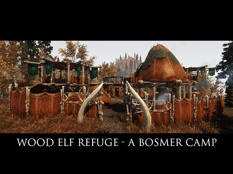 TES V - Skyrim Mods: Wood Elf Refuge - A Bosmer Camp