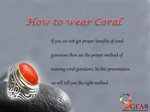 How to wear Red Coral Stone