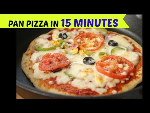 Pizza IN 15 MINUTES WITH OUT OVEN | No Oven, No Yeast Pizza Recipe | Easy Pizza Without Oven