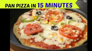 Make Pizza On Without Oven In 15 Minutes No Oven No Yeast Pizza Recip
