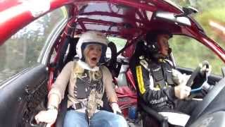 First time in a rally car