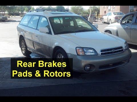 Rear brake pad and rotor replacement, Subaru Outback - Auto Repair Series