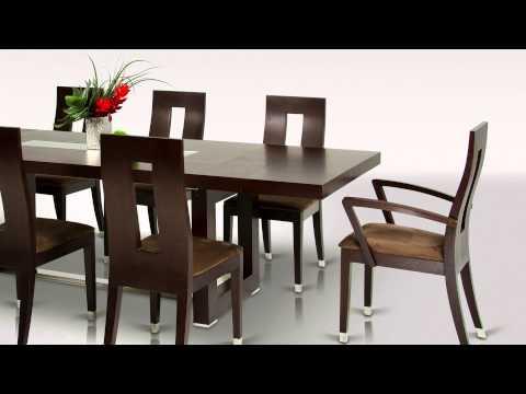 Thor - Modern Wenge Red Oak Veneer Dining Table - VGGU903XT