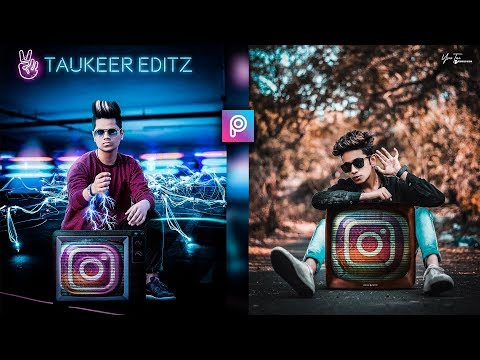 PicsArt 3D Neon Instagram TV Photo Editing Tutorial in picsart Step by Step in Hindi - Taukeer Editz