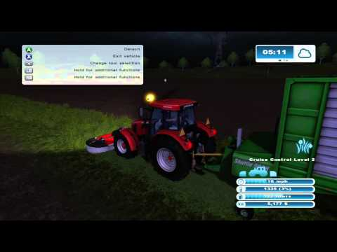 Farming Simulator 2013 Xbox 360 Lets Play ep 14   feed the cows and sheep some grass finaly :)