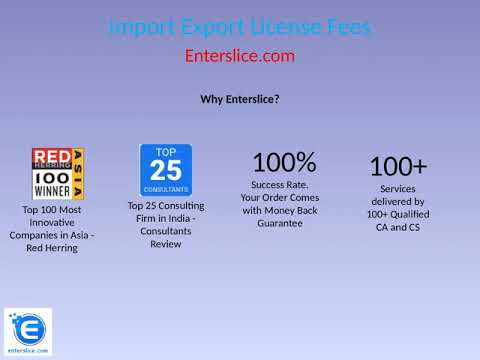 Import Export License Fees