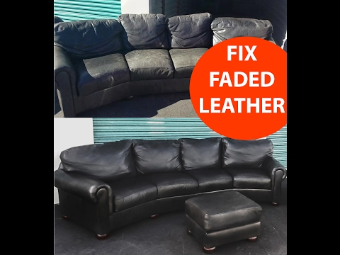 HOW TO REPAIR FADED LEATHER QUICK AND EXTREMELY  EASY LOOKS LIKE NEW
