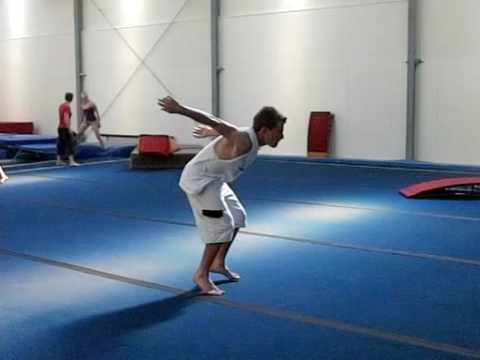 slow motion back flip