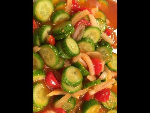 Cucumber, Tomato & Onion Salad