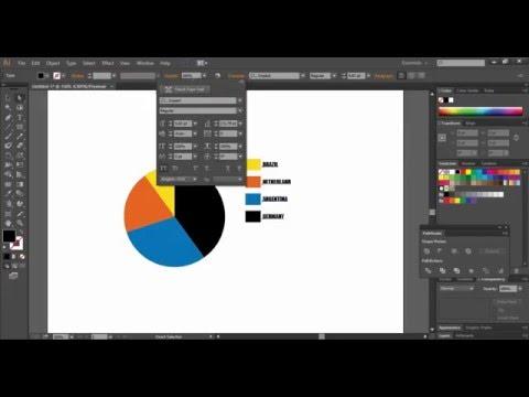 illustrator cc   infographics design with pie chart tool