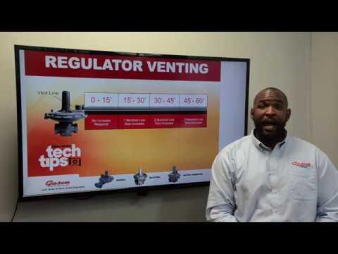 Tech Tips: Gas Regulator Venting