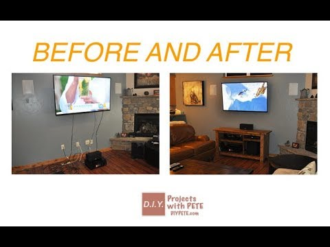 Hide Home Ugly Stuff | How To Hide TV Cords Wires Without CUtting Wall Cable Box Mounten TV 2018