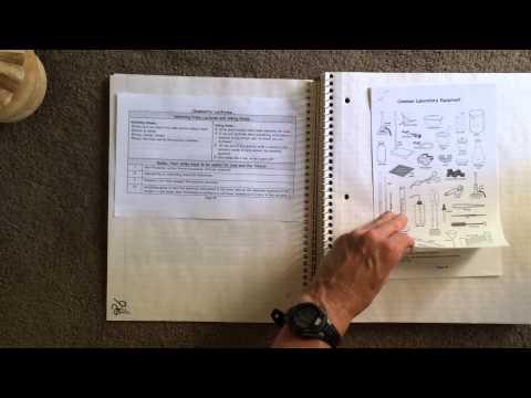 Chemistry Notebook Setup