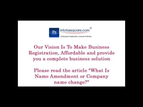What Is Name Amendment or Company name change?