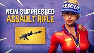 NEW Suppressed Assault Rifle!! - Fortnite Battle Royale Gameplay - Ninja