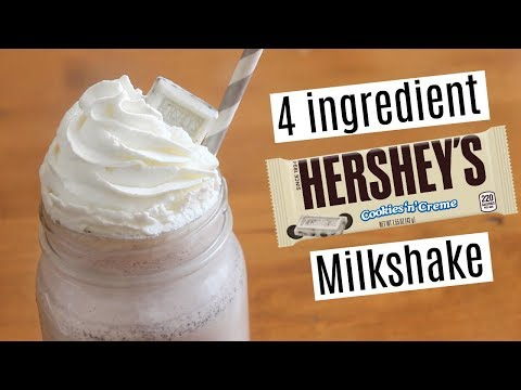 Hershey's Cookies 'n' Creme Milkshake | 4 ingredients