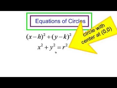 graph a circle and write the equation of a circle