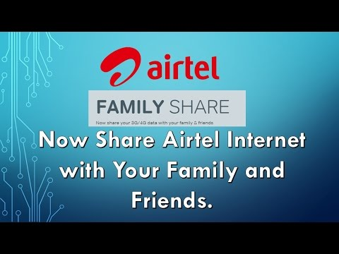 How to share Airtel Internet Data Balance | Airtel Data Share | Hindi