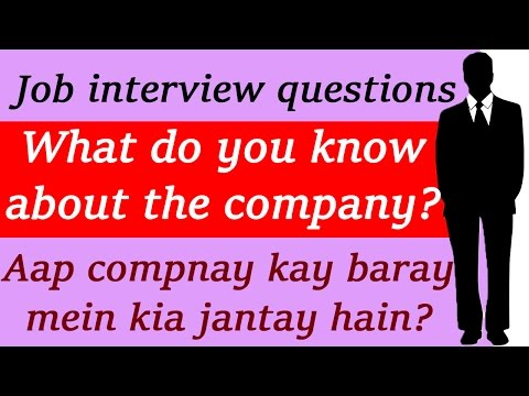 What do you know about the company? Job interview videos for freshers India | Learn English speaking