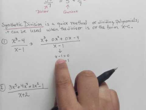 Use synthetic division to find the quotient and the remainder