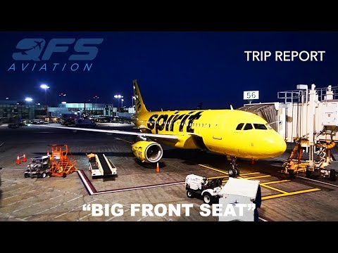 TRIP REPORT   Spirit Airlines - A319 - Los Angeles (LAX) to Baltimore (BWI)   Big Front Seat