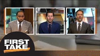 Will Cain debates Stephen A. and Max: Should Warriors trade for Anthony Davis?   First Take   ESPN