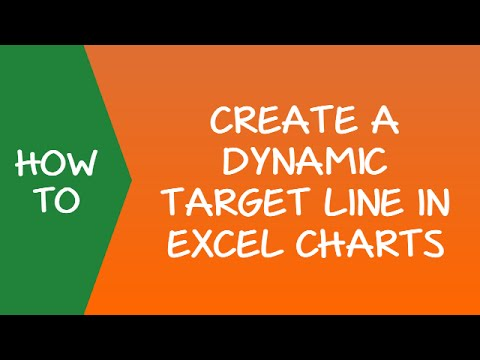 How to Create a Dynamic TARGET LINE in Excel Chart