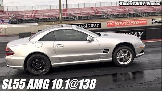 BOOST ONLY SL55 Mercedes New Record! 10.1@138mph