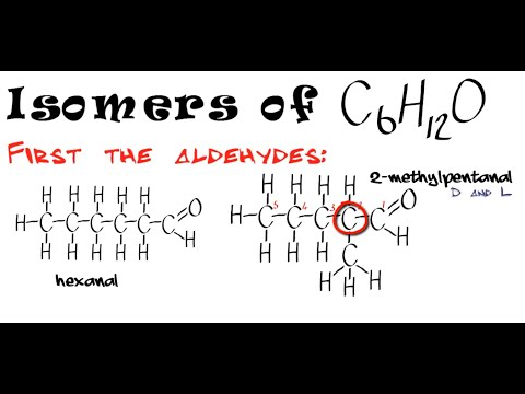 Carbonyls 1. Isomers of C6H12O