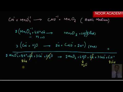 Balancing of redox equation by ion electron method in hindi and urdu