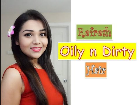 Refresh Oily and Dirty Hair without Shampoo || No Shower Hair Wash ♥♥