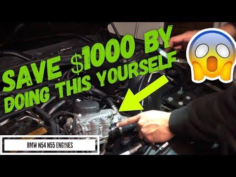 DIY HOW TO BMW 335i N54 N55 OIL FILTER HOUSING LEAK FIX