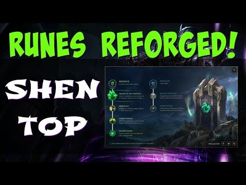 RUNES REFORGED - SHEN TOP GUIDE!