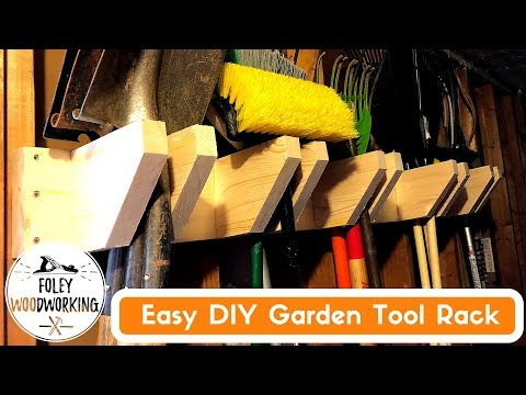 Easy DIY Garden Tools Rack