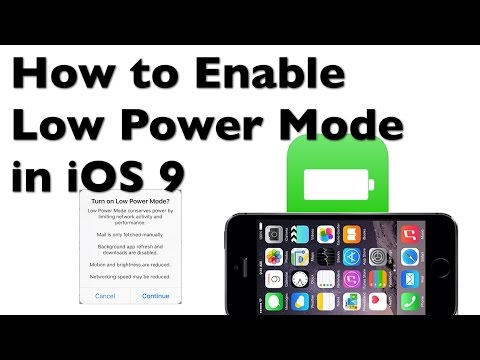 How to Enable Low Power Mode for iPhone iOS 9 and Extend Your Battery Life
