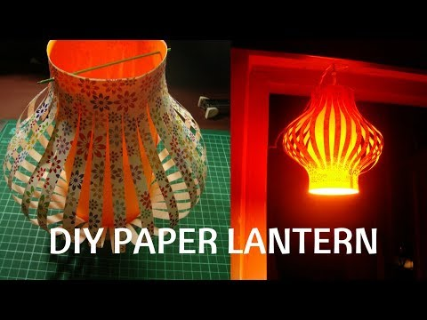 How to make a Chinese Paper lanterns. craft with paper.