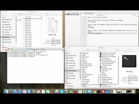 How To Merge Multiple CSV Files on MacBook Pro for FREE!