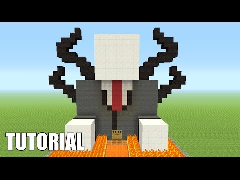 Minecraft Tutorial: How To Make A Slenderman!! (Survival House)