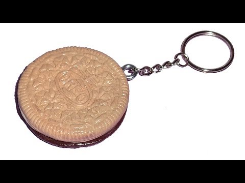 How to make Oreo Cookie Keychain from Polymer Clay
