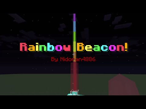 Rainbow Beacon in Minecraft - Only One Command!