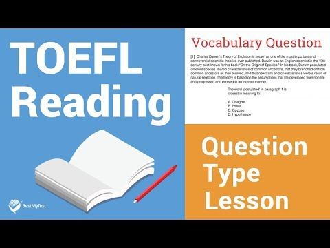 TOEFL Reading Question Type Lesson: Vocabulary