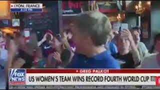 "French Bar patrons troll Fox news ""F**k Trump"" 🏆 Congratulations Team USA on winning 2019 WWC 🏆"
