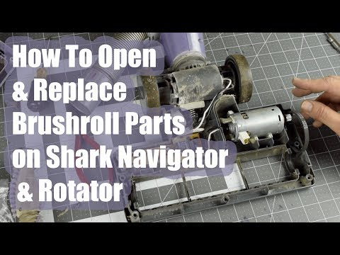 How To Open A Shark Navigator / Rotator Brush Roll Motor & Replace Repair circuit board wires