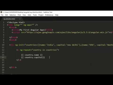 ng directive in AngularJS Tutorial for Beginners