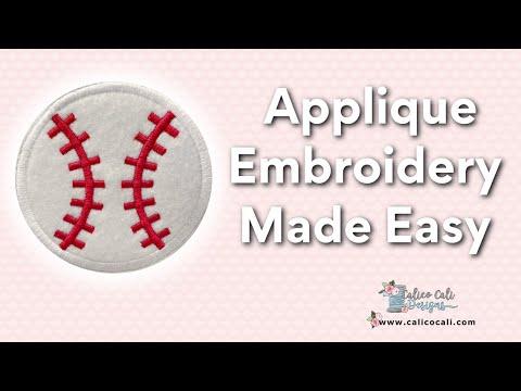 Applique Embroidery Designs Tutorial