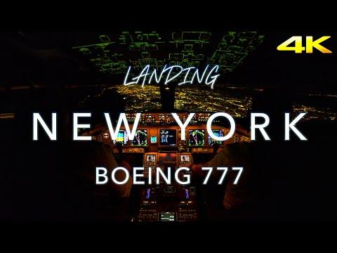 Landing New York | B777 Cockpit View 4K