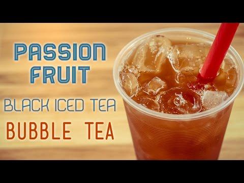 Passion Fruit Black Iced Tea Bubble Tea Recipe by Bubble Tea Supply